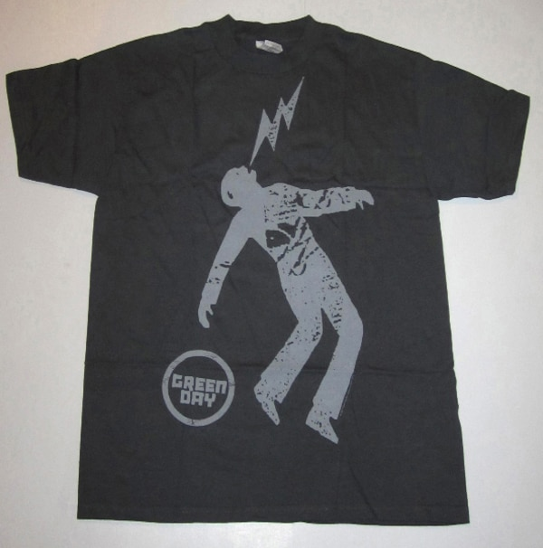 GREEN DAY SHOCKMAN T-SHIRT FROM 2008, PUNK ROCK