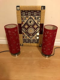 Side table Lamp set and frame