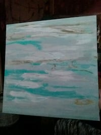 white and green abstract painting Prineville, 97754