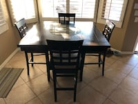 Counter height table and 4 chairs Phoenix, 85042
