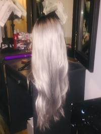 SILVER OMBRE LACE FRONT WIG Calgary, T2T 4C3