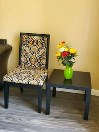 Refurbished chair with black end table Las Vegas, 89107