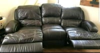 black leather 3-seat recliner sofa Springfield
