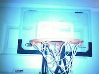 black and white basketball ring