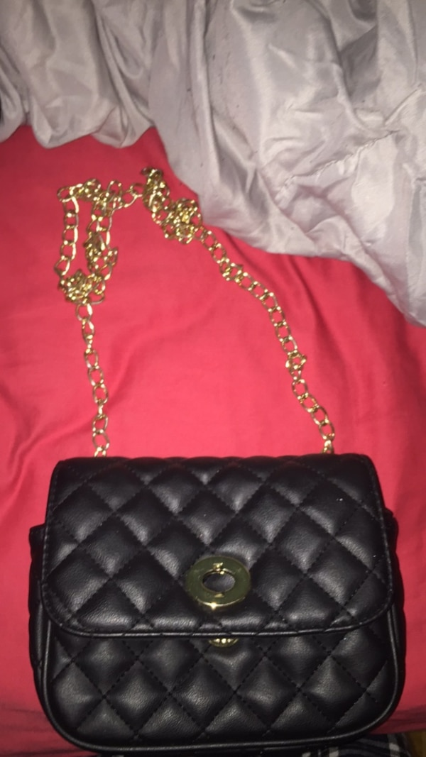 17ccc80e9019 Used quilted black leather crossbody bag for sale in Ottawa - letgo