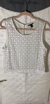 Sheer crop top. Medium. Has small stain on front   Alexandria, 22310