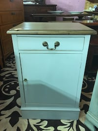 Cabinet with lock and key.