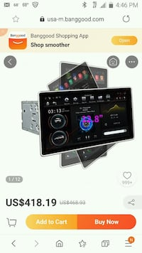 12 inch android stereo, double din