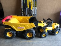 Tonka Truck Dump Truck and Front Loader