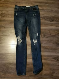 distressed blue-washed denim pants Regina, S4W 0P5