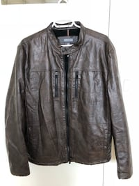 Almost new Kenneth Cole pure leather jacket for men. Large size Toronto