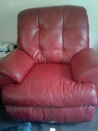 red leather recliner sofa chair 375 mi