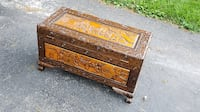 Cedar Carved Chest