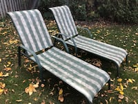 white and gray metal frame lounge chair Pointe-Claire, H9R 5B2