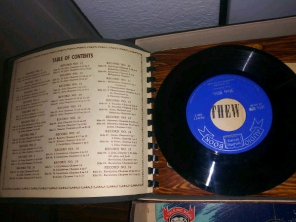Bible Audio book 16 2/3 rpm Old & New Testament