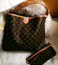 black and brown Louis Vuitton leather crossbody bag Tracy, 95376