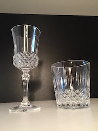 Set of fine china glasses 7 of each