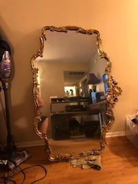 Large gold framed mirror North Richland Hills, 76180