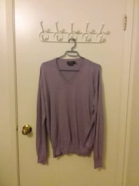 Ralph Lauren Polo: Cotton V-Neck Sweater, Purple (M) Waterloo, N2K 3S1