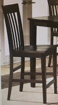 Ashley Furniture Brown Wooden Counter Top Chair (Only One)- Brand New