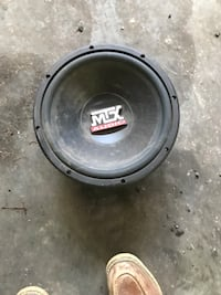 Black and gray mtx audio subwoofer Westminster, 21157