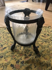 Hurricane lamp candle holder 8 inches tall