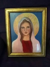 Hand painted mother Mary with oil paints Southbridge, 01550