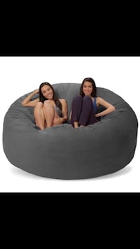 Charcoal gray 7ft bean bag (like lovesac) Mesquite, 75149