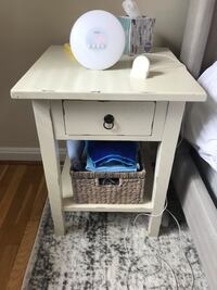 Distressed White Night Stand Chevy Chase, 20815