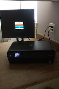 Dell Monitor and HP Envy All-in-One Printer