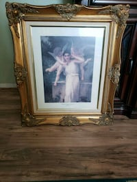 white wooden framed painting of woman in white dress Colorado Springs, 80917
