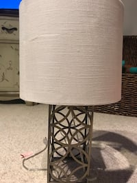 White and gray table lamp  Clarksburg, 20871