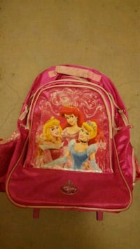 jentas rosa Disney Princess-themed trolley bag