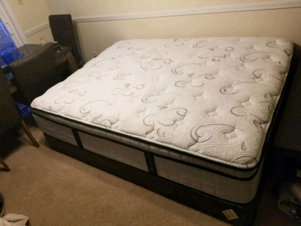 Used Oboqueen Pillow Top Serta Mattress And Boxspring For Sale In