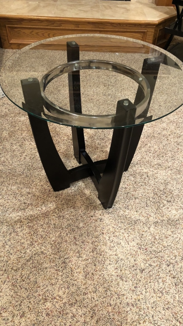 Glass top coffee table and two end tables