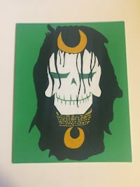 Suicide squad skull enchantress painting