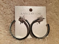 Ann Taylor Silver Hoop Earrings - Brand New Louisville, 80027