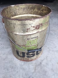 Cool Old Metal Bucket with Handle with Old Nails, Bolts, Hardware, Key, Etc Louisville, 40220