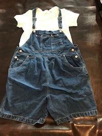 MATERNITY overall shorts and tee medium