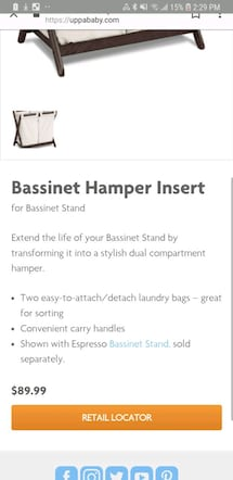 Insert for uppababy bassinet stand