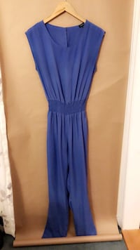 women's blue sleeveless jumpsuit Richmond Hill, L4S