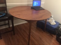 Beech table almost new light brown without chairs you can come and check Springfield, 22151