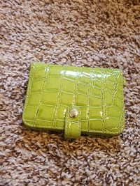 Lime Green Alligator Wallet