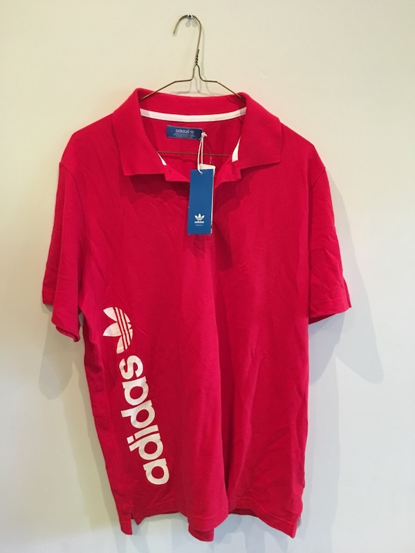 *New W Tags* Adidas Spellout Polo T Shirt
