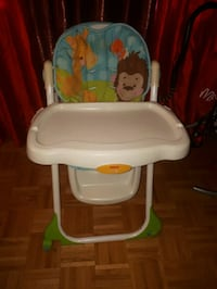 baby's white and red high chair Toronto, M3N 1P1