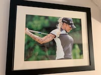 Framed and signed picture of Natalie Gulbish LPGA Burnaby, V3J