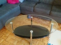 Glass oval coffee table  Ontario, M3N 2K1