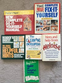 Home and house reference books, diy, do it yourself, fixing, handyman, cleaning, helpful hints, lot of 6 books, 2700 pages, very good to new condition Lansdale, 19446