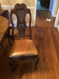 brown wooden armchair with ottoman Colonia, 07067
