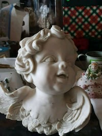 MARBLE STONE BUST ANTIQUE COLLECTIBLE Spring, 77389